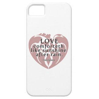 Amor Comforteth como la sol - cita de Shakespeare iPhone 5 Carcasas