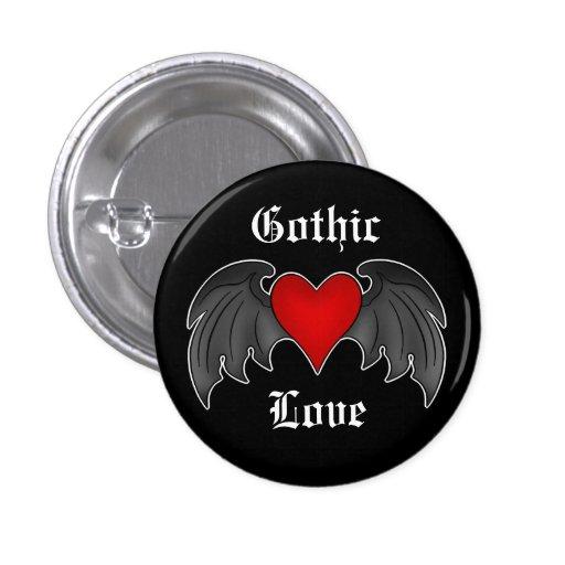 Amor con alas rojo oscuro gótico del corazón