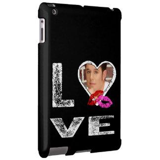 AMOR con besos - plantilla de la foto Funda Para iPad