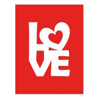Amor con el corazón postales