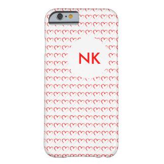 amor con el monograma funda para iPhone 6 barely there