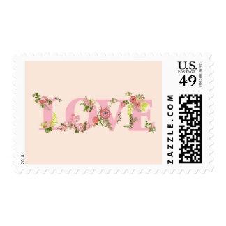 AMOR con las flores Timbres Postales