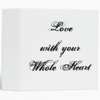 """Amor con su corazón entero. Personalizado blanco Carpeta 2"""""""