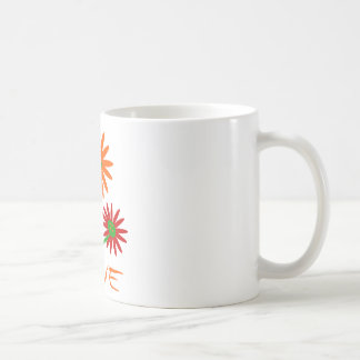 Amor con tres lindos, flores coloridas con los tro taza