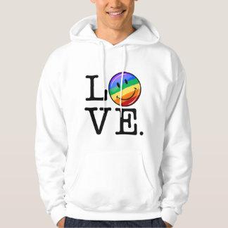 Amor con un gay feliz LGBT de la bandera del arco Sudadera