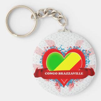 Amor Congo Brazzaville del vintage I Llavero Personalizado