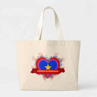 Amor Congo Kinshasa del vintage I Bolsa Tela Grande