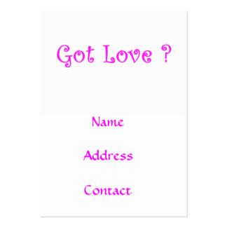 ¿Amor conseguido? - tarjetas de visita