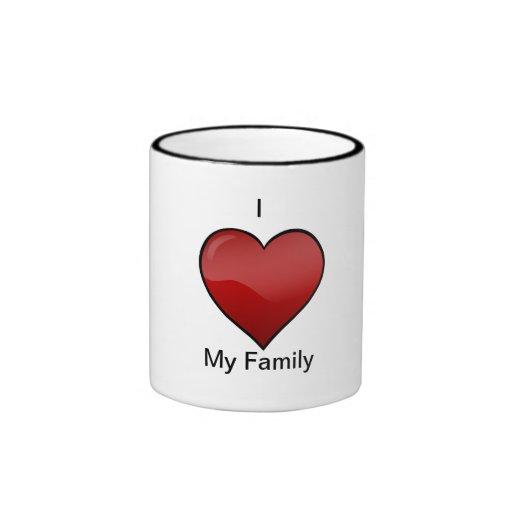 amor-corazón-clipart, I, mi familia Taza A Dos Colores