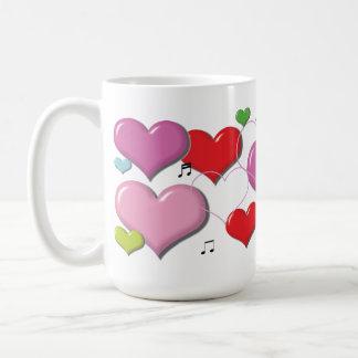 Amor - corazón Colorfull Taza Básica Blanca