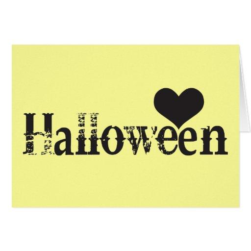 Amor - corazón - Halloween Tarjetón