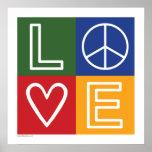 AMOR - corazón y signo de la paz Poster