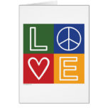 AMOR - corazón y signo de la paz Tarjeton