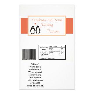 Amor/corazones grandes del pingüino de la envoltur tarjetas informativas