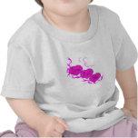 Amor (corazones rosados) camisetas