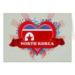 Amor Corea del Norte del vintage I Felicitación