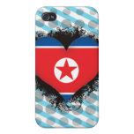 Amor Corea del Norte del vintage I iPhone 4 Carcasa
