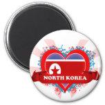 Amor Corea del Norte del vintage I Iman Para Frigorífico