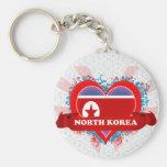 Amor Corea del Norte del vintage I Llavero