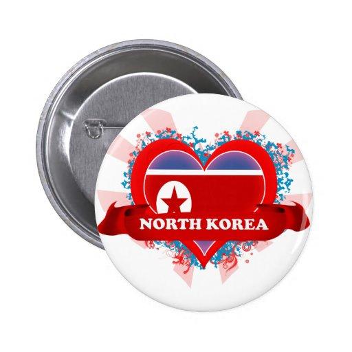 Amor Corea del Norte del vintage I Pin