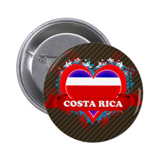 Amor Costa Rica del vintage I Pin Redondo 5 Cm