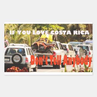 Amor Costa Rica Pegatina Rectangular
