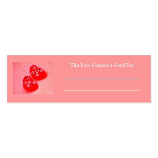 Amor Coupon-5 Tarjeta De Visita