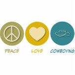 Amor Cowboying de la paz Escultura Fotografica
