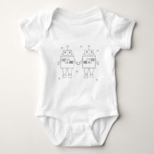 Amor cuadrado del Bot Body Para Bebé