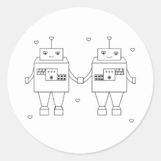 Amor cuadrado del Bot Etiqueta