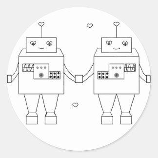 Amor cuadrado del Bot Pegatinas
