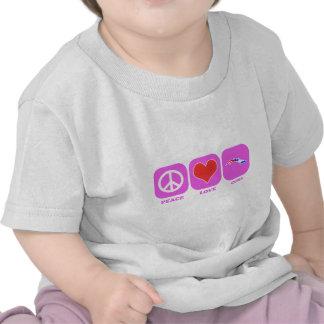 Amor Cuba de la paz Camisetas