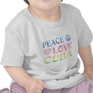 Amor Cuba de la paz Camiseta