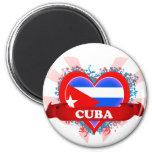 Amor Cuba del vintage I Imán Redondo 5 Cm