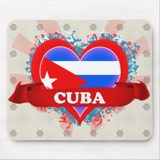 Amor Cuba del vintage I Tapete De Ratón