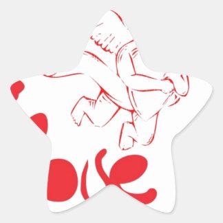 amor cúbico pegatina en forma de estrella