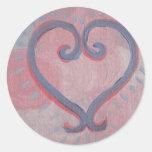 Amor curativo etiquetas redondas