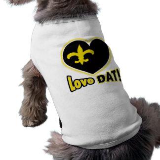 ¡amor DAT! Heart de Lis Camisetas Mascota