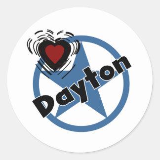Amor Dayton Etiqueta Redonda