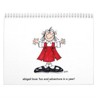 amor de Abigail: ¡diversión y aventura en un año! Calendario De Pared
