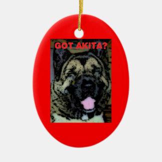 Amor de Akita Ornamentos De Navidad