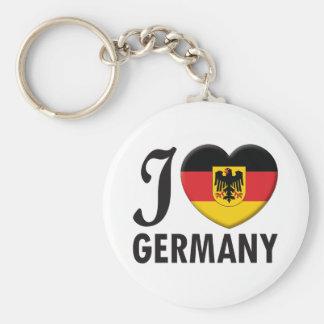 Amor de Alemania v2 Llavero Redondo Tipo Pin