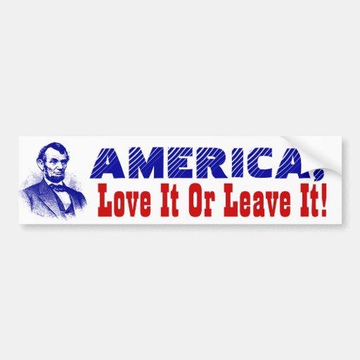 Amor de América de la bandera de las pegatinas par Etiqueta De Parachoque