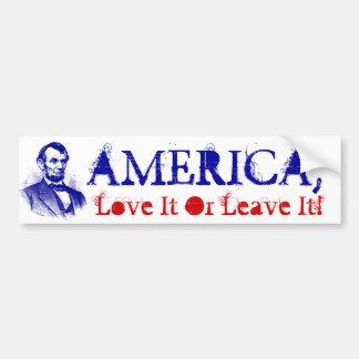 Amor de América de la bandera de las pegatinas Pegatina Para Auto
