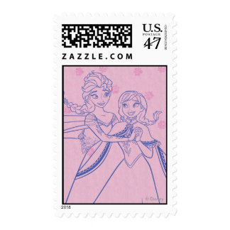 Amor de Ana y de Elsa el | I mi hermana Sello Postal