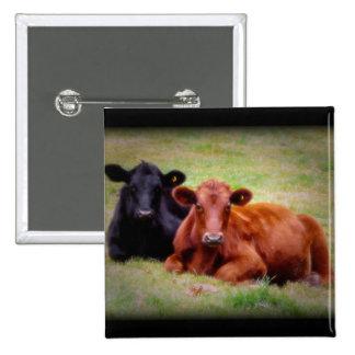 Amor de Angus - par de ganado de lado a lado Pin