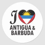 Amor de Antigua y de Barbuda Etiquetas Redondas