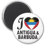 Amor de Antigua y de Barbuda Iman De Nevera