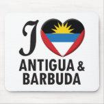 Amor de Antigua y de Barbuda Tapete De Ratones