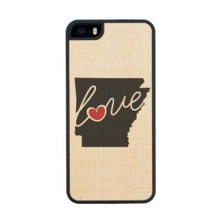 ¡Amor de Arkansas!  Regalos para los amantes de AK Funda De Madera Para iPhone SE/5/5s